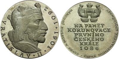 AE Medaile 1986 - Na paměť korunovace prvního českého krále Vratislav II., postř. Br