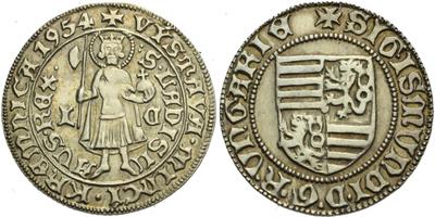 AR Medaile 1954 - Výstava mincí Kremnica 1954, Ag 21 mm (2,45 g)