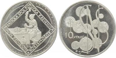 AR Medaile 1975 - SNS - 10. výročí pobočky Kremnice Ružomberok, Ag 0,900, 40 mm (27,2