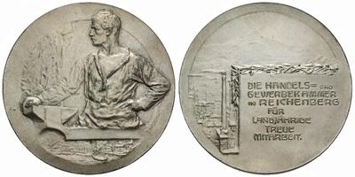 AE Medaile b.l. (J. Neubauer) - Obchodní a živnostenská komora, Za dlouholetou spolup