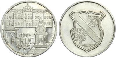 AR Medaile 1995 - 825. výrocí města Peruc, Ag 0,999, 30 mm (11,32 g)