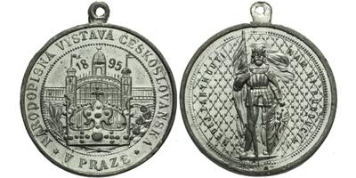 AE Medaile 1895 - Národopisná výstava Českoslovanská, Sn 31,5 mm