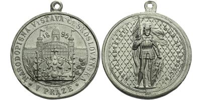 AE Medaile 1895 - Národopisná výstava Českoslovanská, Sn 31 mm