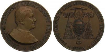 AE Medaile 1910 - Cu 50 mm (66 g), púvodní etue
