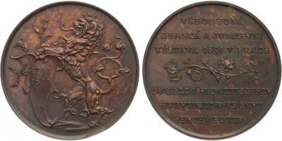 AE Medaile 1891 (Braun) - Záslužná medaile pro vystavovatele, Br 43 mm, hezká patina,