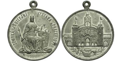 AE Medaile 1891 (Fritsche Thein) - Upomínková medaile, Sn 38,5 mm, pův. ouško, ŠFP.28