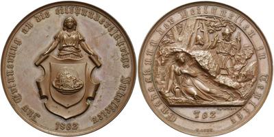 AE Medaile 1862 (Loos) - Na památku oslav 1100. výročí objevení pramenů, Cu 50 mm