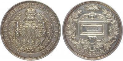 AR Medaile 1903 - Spolek zahradníků ve Vídni, Ag 53,5 mm (43,07 g), značeno na hraně