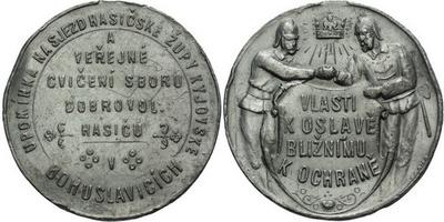 AE Medaile b.l. (Šmakal) - Upomínka na sjezd hasičské župy kyjovské s veřejné cvičen