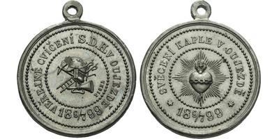 AE Medaile 1899 (Pichl) - Veřejné cvičení sboru dobrovolných hasičů a svěcení kaple.