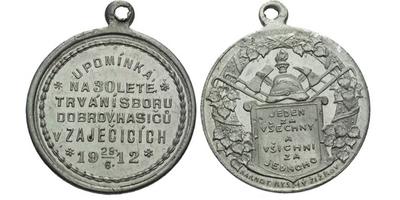 AE Medaile 1912 (Karnet Kyselý) - Upomínka na 30-leté trvání sboru dobrovolných hasi