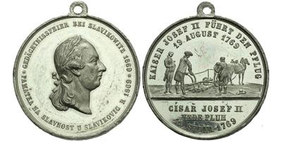 AE Medaile 1769 - Na památku slavností u Slavíkovic, Sn 32 mm, pův. ouško