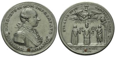 AE Medaile 1782 (Johann Christian Reich) - Vydání tolerančního patentu, Sn 45 mm, pod