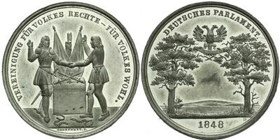 AE Medaile 1848 (Drentwett) - K přijetí ústavy, Sn 37 mm