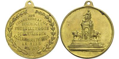 AE Medaile 1888 (Müller) - Na památku oslav odhalení pomníku Marie Terezie ve Vídni,