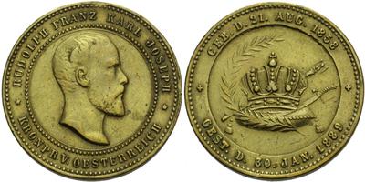AE Medaile 1889 - Úmrtní medaile, Br 26 mm, odstr. ouško
