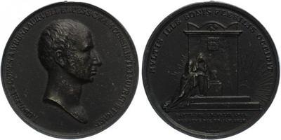 AE Medaile 1823 - Úmrtní medaile, Lité Fe, 45 mm (23,5 g)