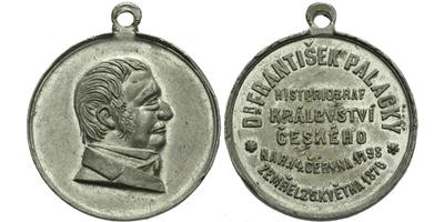 AE Medaile 1876 - František Palacký, Sn 30 mm, pův. ouško
