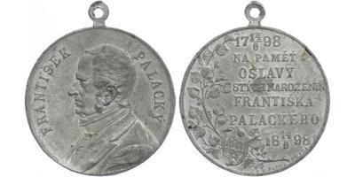 AE Medaile 1898 - František Palacký, Sn 35 mm, pův. ouško