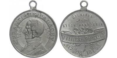 AE Medaile 1898 - František Palacký, Sn 34 mm, pův. ouško