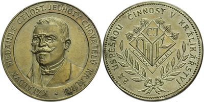 AE Medaile b.l. - Kálalova medaile celostátní jednoty chovatelů králiků, Za zásluhy v