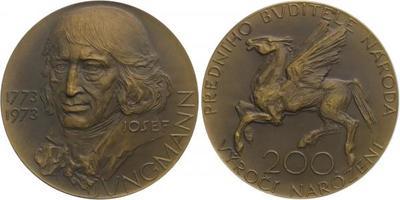 AE Medaile 1975 - 200. výročí narození, Br 60 mm (87,3 g)