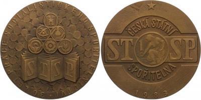 AE Medaile 1983 - 30 let práce socialistického spořitelnictví, Česká státní spořiteln