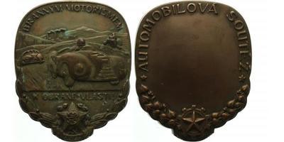 Svazarm - Medaile b.l. - Branným motorismem k obraně vlasti / Automobilová soutěž