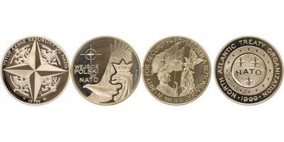 AR Medaile 1999 - 3 ks pamětních stříbrných medailí ke vstupu nových členských zemí d