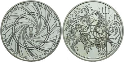 AR Medaile 2008 - 140. let společnosti Sigma 1868 - 2008, Ag 0,999, 50 mm (50,5 g), p