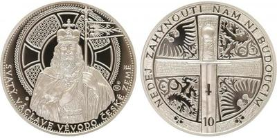 AR Medaile 2013 - Stříbrný odražek 10ti dukátu, Ag 0,999, 42 mm (31,1 g), číslo 574,