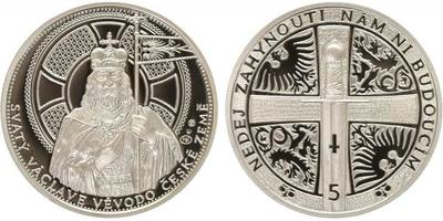 AR Medaile 2013 - Stříbrný odražek 5ti dukátu, Ag 0,999, 34 mm (16 g), kapsle, luxusn