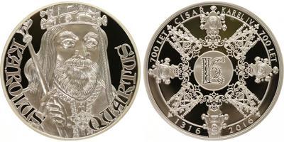 AR Medaile 2016 - 700 let od narození Karla IV., Proof