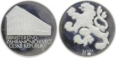 AR Medaile b.l. - Ministerstvo zahraničných věcí České republiky, etue, Ag 0,999, 40