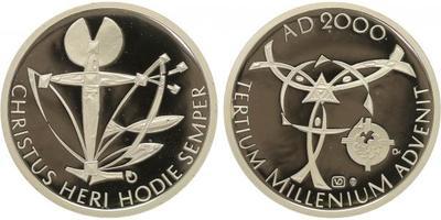 AR Medaile 2000 - Pamětní medaile k uvítání roku 2000, Ag 0,999, 40 mm (29 g), kapsle