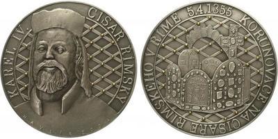 Medaile 2004 - 650. výročí korunovace Karla IV. na císaře římského v Římě 5. 4. 1355,