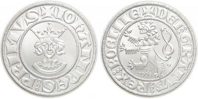 AR Medaile 2006 - půlgroš Jana Lucemburského, Ag 0,999, 40 mm (29 g), kapsle, etue, c