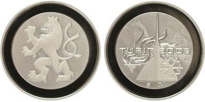 AR Medaile ZOH Turín 2006, Ag 0,999, 34 mm (16 g), kapsle, etue, certifikát, PROOF