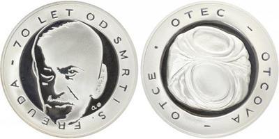 AR Medaile b.l. - 70. výročí úmrtí Sigmunda Freuda, Ag 0,999, 50 mm (42 g), kapsle, e