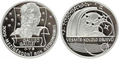 AR Medaile 2009 - Galileo Galilei, Ag 0,999, 34 mm (16 g), 300 kusů číslovaná medaile