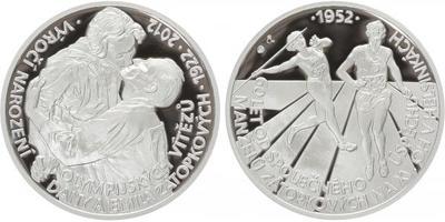 AR Medaile 2012 - 60. výročí společného úspěchu na XV. OH v Helsinkách a 90. výročí n
