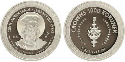 AR Medaile 2013 - Korunovační klenoty - Svatý Václav / Královské žezlo