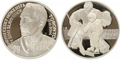 Stříbrná medaile 2015 - Domonik Hašek, PROOF