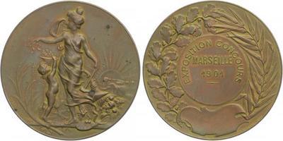 AE Medaile 1901 - Výstava v Marseille, Br 50 mm (57,3 g)