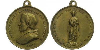 AE Medaile b. l. (Anno I. - 1846) - Pius IX, 32 mm (11,37 g)