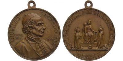 AE Medaile 1886 (Penin, Lyon) - 32 mm, (12,84 g), hezká patina