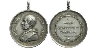 AR Medaile (Bianchi) 1888 - Leo XIII, 30,5 mm (12,17 g)