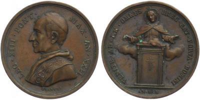 AE Medaile (Bianchi) 1900 - Leo XIII, 30 mm (12,24 g), nep. oxidace na Rv.