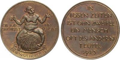 AE Medaile 1923 (Hörnlein) - Medaile na drahotu, Br 38 mm