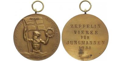 AE Medaile 1931 - konstanz - Veslařský klub, Br 36 mm